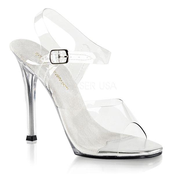 Durchsichtige High Heel Sandalette GALA-08